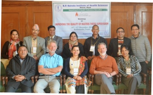 Nepal 2015 December workshop on thesis supervision